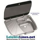 SNG 6044 combo sink drainer glass lid